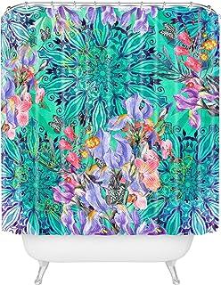 "Deny Designs Marta Barragan Camarasa Nature Among Blue Mandalas Shower Curtain, 69"" x 72"""