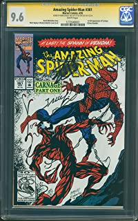 AMAZING SPIDER-MAN 361 CGC 9.6 NEAR MINT+ SIGNATURE SERIES SIGNED BY STAN LEE & MARK BAGLEY 1ST CARNAGE INVENTORY # 14370