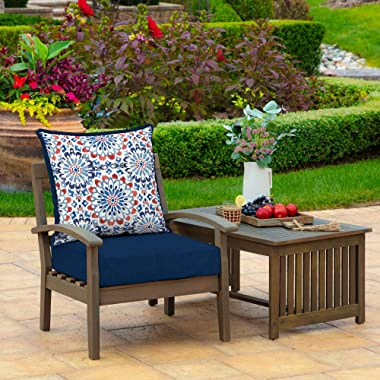 Arden Companies Arden Selections Clark Outdoor Deep Seat Set - 46.5 in L x 25 in W x 6.5 in H
