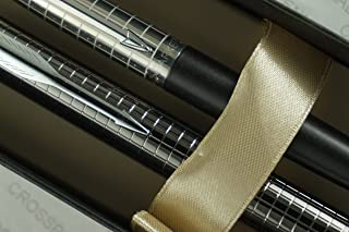 Parker Jotter Diamond Cut Cap Stainless Steel Tuxedo Matte Black Barrel Ballpoint Pen and Parker IM Premium Deep Gun Metal...