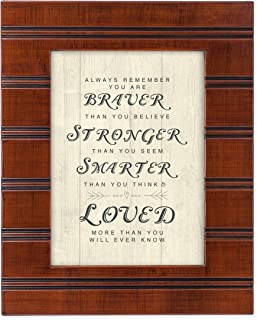Cottage Garden You are Braver, Stronger and Smarter Than You Know Wood Finish 8 x 10 Framed Wall Art Plaque