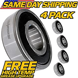 (4 Pack) Toro TimeCutter Spindle Bearing 100-1048, 112-0423, 38-7820 - HI Temp Upgrade - HD Switch