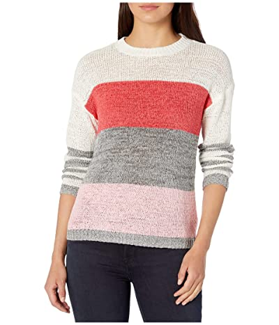 BB Dakota Tickled Pink Tape Yarn Color-Blocked Sweater (Cashmere Rose) Women
