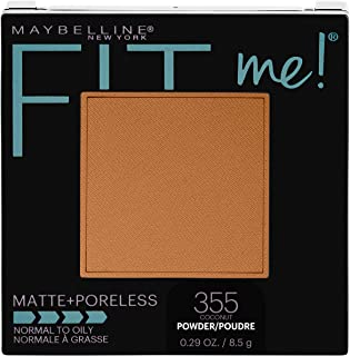 Maybelline New York Fit Me Matte + Poreless Pressed Face Powder Makeup, Coconut, 0.28 Ounce, Pack of 1