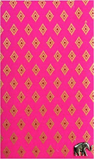Pink & Gold Thai Pattern Guest Check Presenter for Restaurant, Check Book Holder & Cover, Waitstaff Organizer, Server Book for Waitress with Money Pocket, Check Pad Holder U