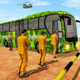 US Army Border Prisoner Bus Transport