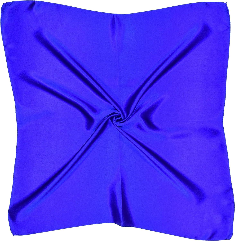 Deep bluee Silk Square Scarf