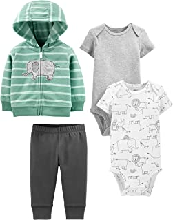 Baby 4-Piece Neutral Jacket, Bodysuit, and Pant Set