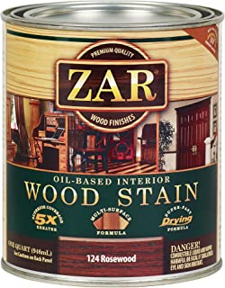 ZAR 12412 Wood Stain, QT, Rosewood