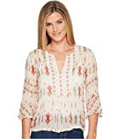 Lucky Brand - Mix Print Boho Top