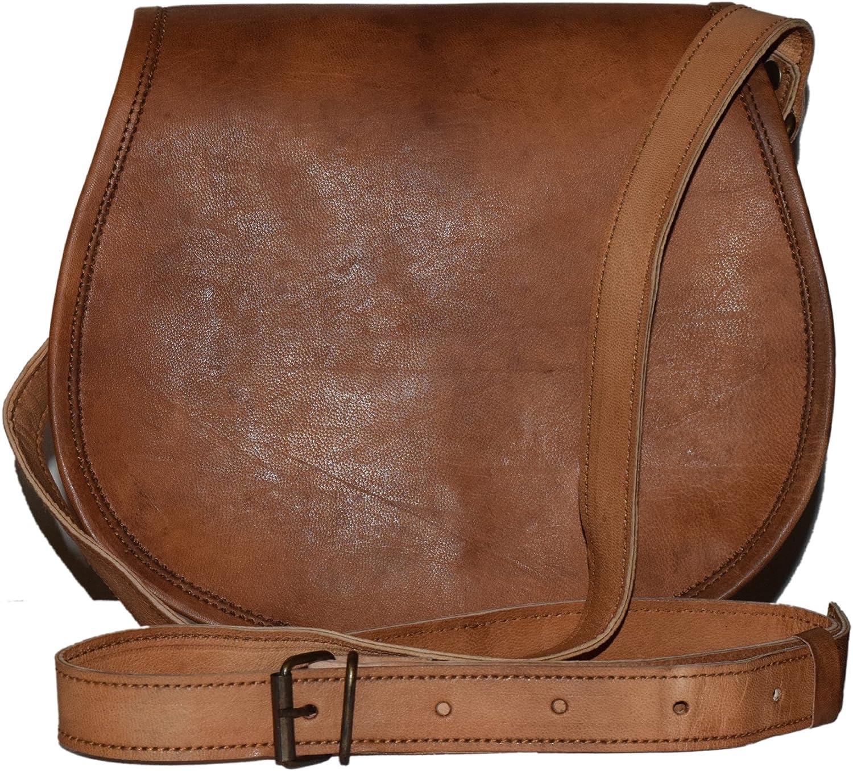 Desert Town Genuine Leather Vintage Brown Adjustable Shoulder Strap Sling Bag   Crossbody Bag   Satchel Bag for Women's (11x9 Inch)