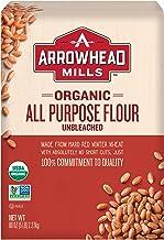 Arrowhead Mills Organic Unbleached All Purpose White Flour, 5 Pound Bag
