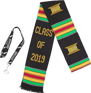 Class of 2019 Kente Cloth Graduation Stole (Black)