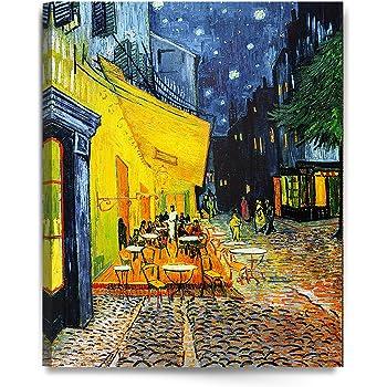 Amazon Com Decorarts Terraza De Cafe Por La Noche Vincent Van Gogh Art Reproduction Giclee Prints Y Enmarcado Art Para Decoracion De La Pared Home Kitchen