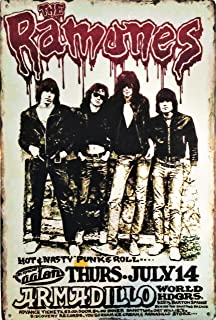 Pish Posh Llc Vintage Tin Sign Decor, The Ramones in Concert 8