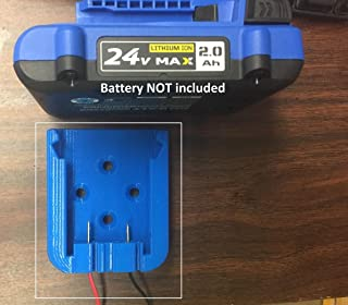Kobalt 24Vmax Battery Mount w/14AWG wire and terminals, Robots, Lights, eBikes