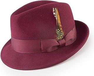 MONTIQUE Men s Pinch Crushable Litefelt Snap Brim Hat H-37 4e33521f7d1e