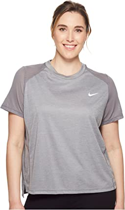 Nike Dry Miler Short-Sleeve Running Top (Sizes 1X-3X)