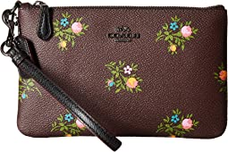 COACH - Small Wristlet in Cross Stitch Floral