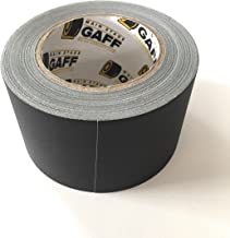 Gaffers Tape - 3 inch by 30 Yards - Black - Main Stage Gaff Tape - Matte-Finish, Easy to Tear by Hand