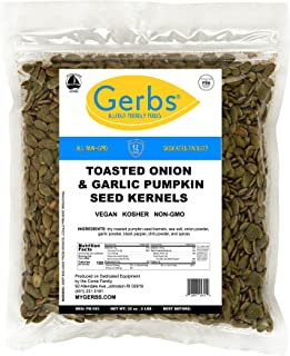 Sponsored Ad - GERBS Toasted Onion, Garlic Pumpkin Seed Kernels, 32 ounce Bag, Roasted, Top 14 Food Allergen Free, Non GMO...