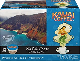 Kauai Coffee Single-serve Pods, Na Pali Coast Dark Roast – 100% Premium Arabica Coffee from Hawaii's Largest Coffee Grower, Compatible with Keurig K-Cup Brewers - 72 Count