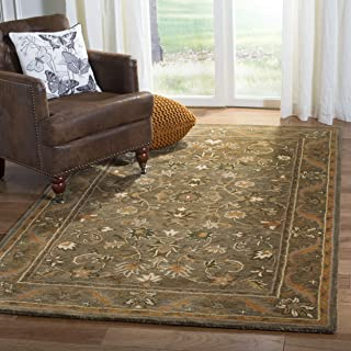 Safavieh Antiquities Collection AT52A Handmade Traditional Oriental Olive and Gold Wool Area Rug (2'3
