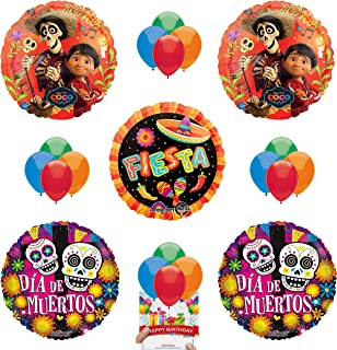 Coco Party Supplies Day of the Dead Balloon Decoration Bundle