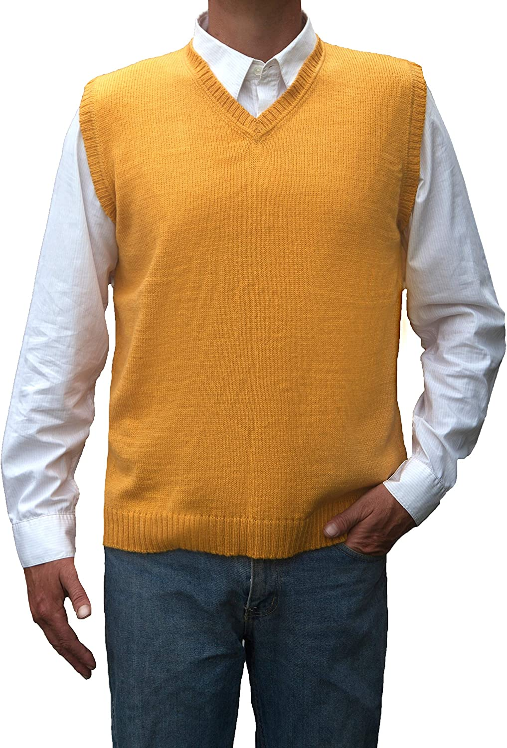 TINKUY Peru - Peruvian Alpaca Wool Vest for Cheap super Manufacturer regenerated product special price Men V Neck Basic S