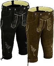 Trends Men's Bavarian Trachten Lederhosen Leather Shorts Sold AS Set of Two