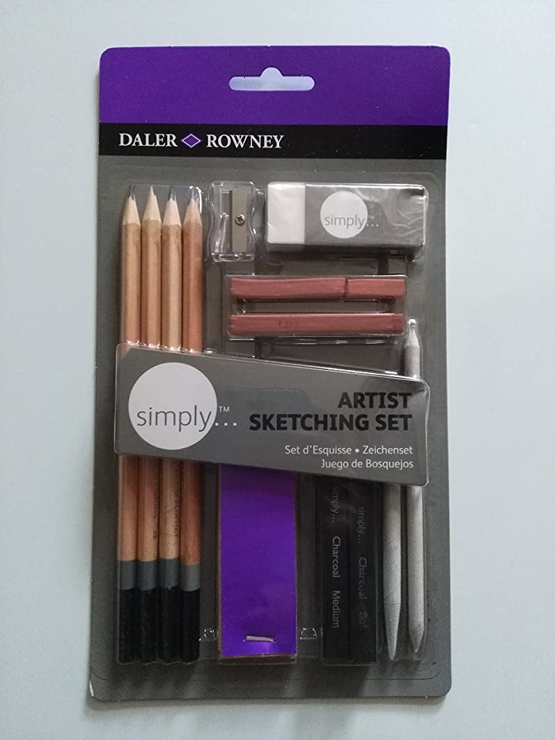 DALER-ROWNEY/FILA CO 644200000 SIMPLY ARTIST SKETCHING PENCIL SET 13PCS
