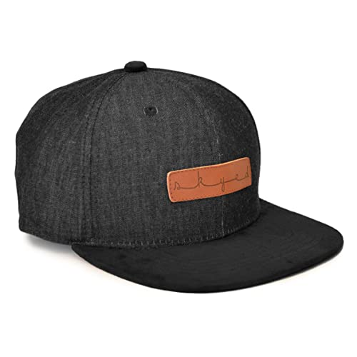 321464ec62 Skyed Apparel Snapback Hat Collection with Genuine Leather Strap (Multiple  Colors)