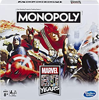 Monopoly: Marvel 80 Years Edition Board Game for Kids Ages 8 and Up