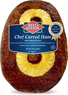 Dietz & Watson Fully Cooked Chef Carved Dinner Ham, 3 lb