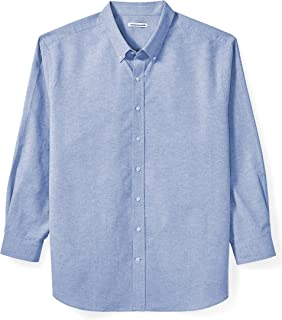 Amazon Essentials Men's Big & Tall Long-Sleeve Oxford Shirt fit by DXL