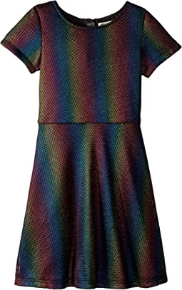 Multicolor Honeycomb Cut Out Shift Ivy Dress (Toddler/Little Kids/Big Kids)