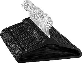 "ZOBER Premium Kids Velvet Hangers (14"" Inch - 50 Pack) Non Slip Junior Hangers, Ultra Slim Space Saving Childrens Hangers - 360° Swivel Hook, Strong & Durable Preteen Hangers (Medium)"