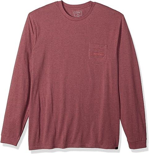 Quikargent Hommes's The Stitch up manche longue Tee Shirt, MelFaible Mauve Heather, XL