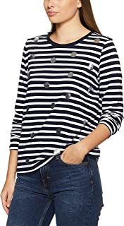 French Connection Women's Stripe Foil Spot Tee