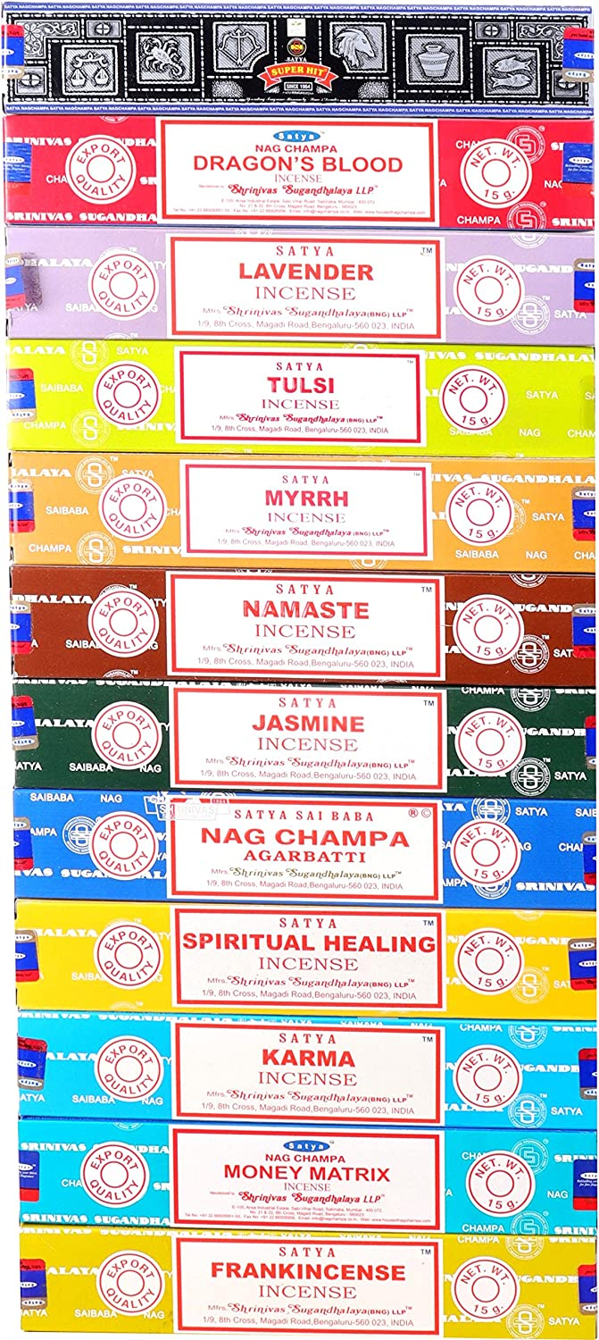 Nag Champa 2021 spring and summer new Satya Assorted Top Selling Set 12 1 Free Shipping Cheap Bargain Gift Series Scents