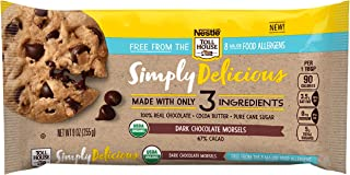 Nestle Toll House Simply Delicious Allergen-Free Dark Chocolate Morsels – Dark Chocolate Chips Made With Only Three Ingredients and Free From 8 Major Allergens, 9 oz. Bag(Pack of 15)