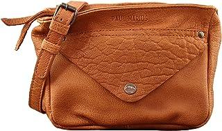 3269f5c3f2 Paul Marius LE GAVROCHE Sable petit sac bandoulière en cuir de buffle  pleine fleur style Vintage