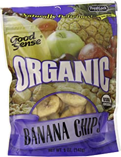 Good Sense Organic Banana Chips, 5-Ounce Bags (Pack of 12)