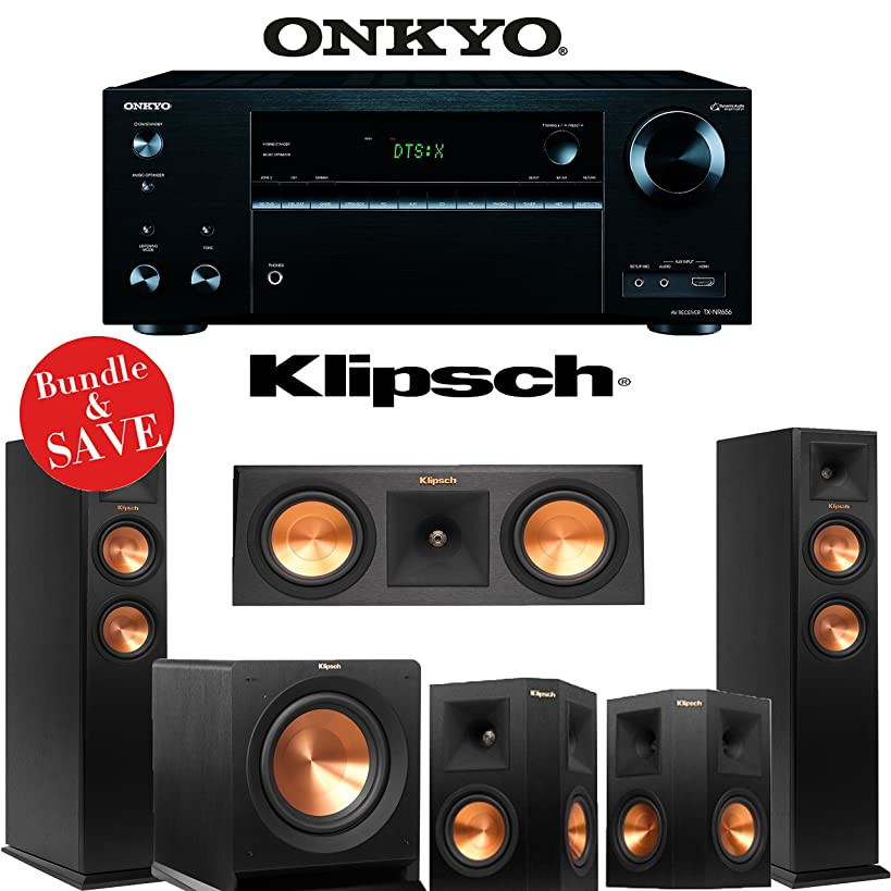 Onkyo TX-NR656 7.2 Channel Network A/V Receiver + Klipsch RP-250F + Klipsch RP-250C + Klipsch RP-250S + Klipsch R-110SW - 5.1 Reference Premiere Home Theater Package