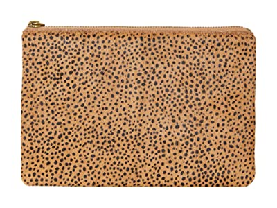Madewell Leather Pouch Clutch In Spot Dot Haircalf