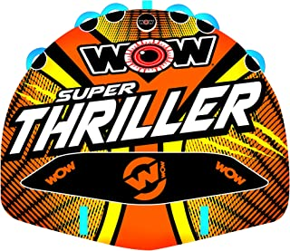 Wow Watersports Thriller Deck Tube Water Towable Tube Inflatable Boat Tube, Wild Wake Action - Water Sports Inflatables - Towable Tube