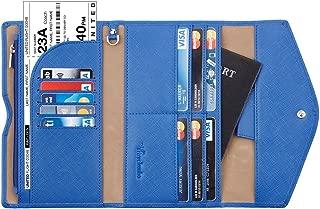 Travelambo Rfid Blocking Passport Holder Wallet & Travel Wallet Envelope Various Colors(blue)