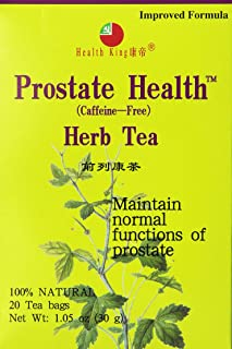 Health King Herbal Tea, Prostate Health, 20 Tea Bags (Pack of 4)
