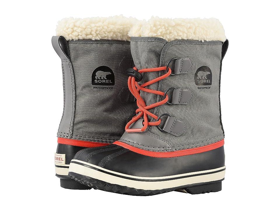 SOREL Kids Yoot Pactm Nylon (Toddler/Little Kid) (Quarry/Sail Red) Boys Shoes