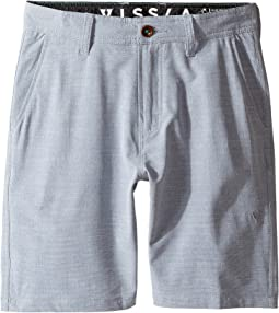 "VISSLA Kids Fin Rope 4-Way Stretch Hybrid Walkshorts 17.5"" (Big Kids)"